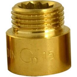 """Przedłużka mosiężna 1/2"""" 15 mm DIAMOND"""