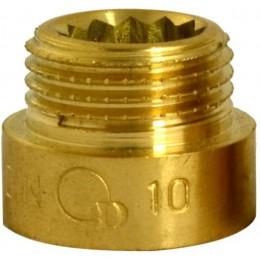 """Przedłużka mosiężna 1/2"""" x 10 mm DIAMOND"""