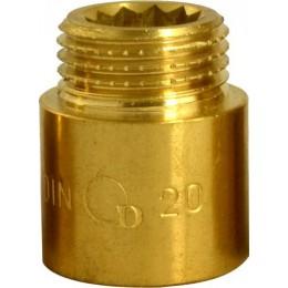 """Przedłużka mosiężna 1/2"""" x 20 mm DIAMOND"""