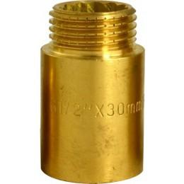 """Przedłużka mosiężna 1/2"""" x 30 mm DIAMOND"""