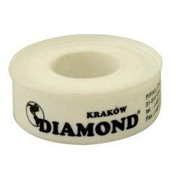 TAŚMA TEFLONOWA DO USZCZELNIANIA GWINTÓW USZCZELNIACZ DO WODY GAZU 100% PTFE DIAMOND