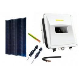 ZESTAW FOTOWOLTAICZNY PV PANEL EXE SOLAR On-grid 3 kW INSTALACJA NA DACH SKOŚNY KRYTY DACHÓWKĄ CERAMICZNĄ