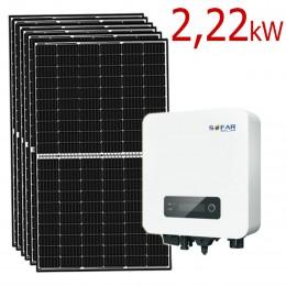 Zestaw Fotowoltaiczny PV 2,2 kW na panelach Longi