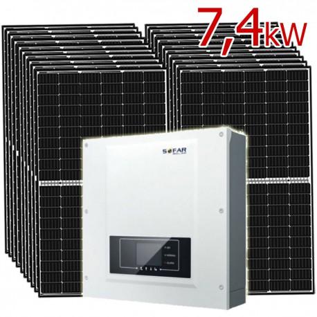 Zestaw Fotowoltaiczny PV 7,4 kW na panelach Longi